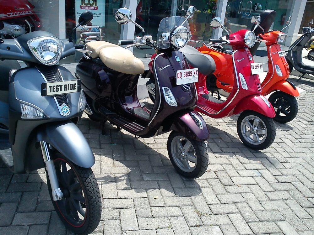 daftar harga motor vespa piaggio makassar - roda 2 makassarroda 2